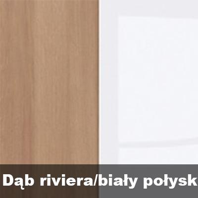 dąb riviera/biały połysk