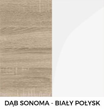 Dąb Sonoma i Biały Połysk