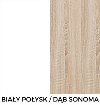 Dąb Sonoma / Biały Połysk