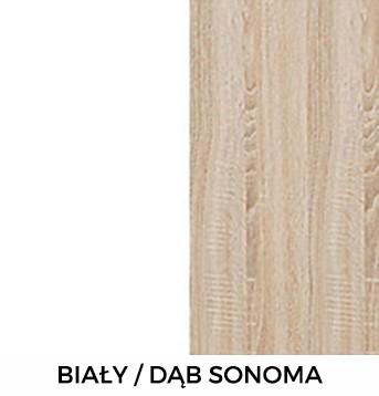Biały / Dąb Sonoma
