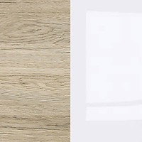 dąb San Remo / Biały Połysk